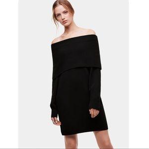 NWT Babaton Maroon Corrigan Knit Sweater Dress